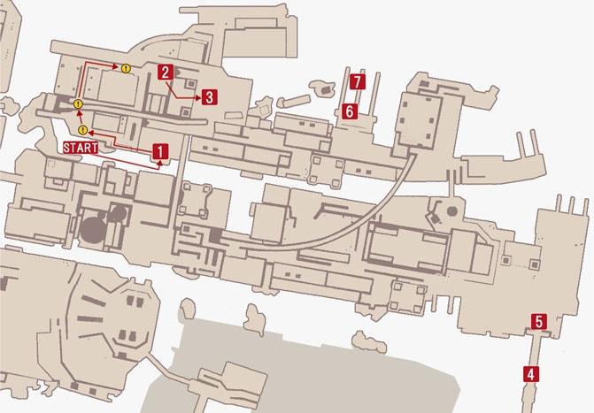 チャプター1『ルシス王救出作戦』の攻略ルートマップ