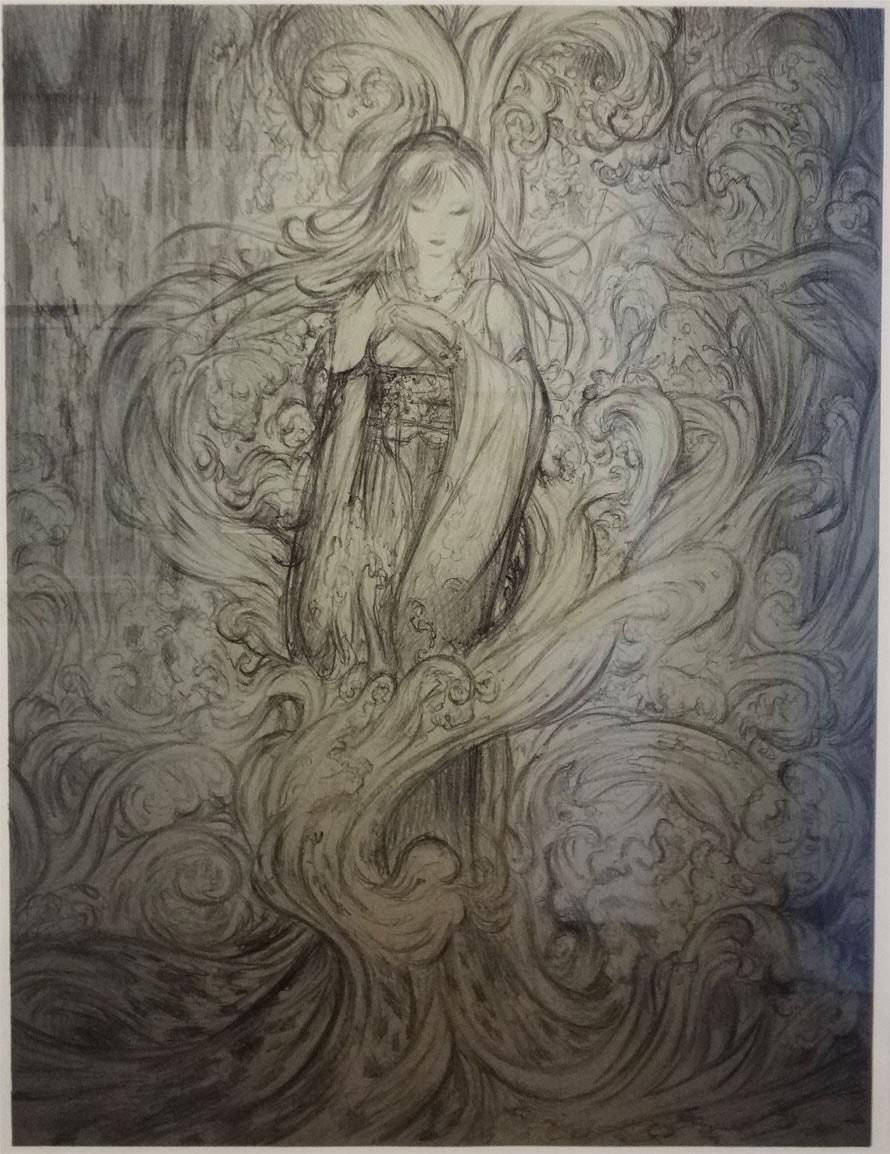 FF10のユウナ リトグラフ、作品『水夢』