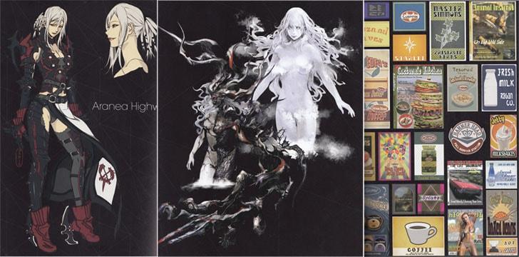 FF15アートブックのキャラクターとポスターの絵