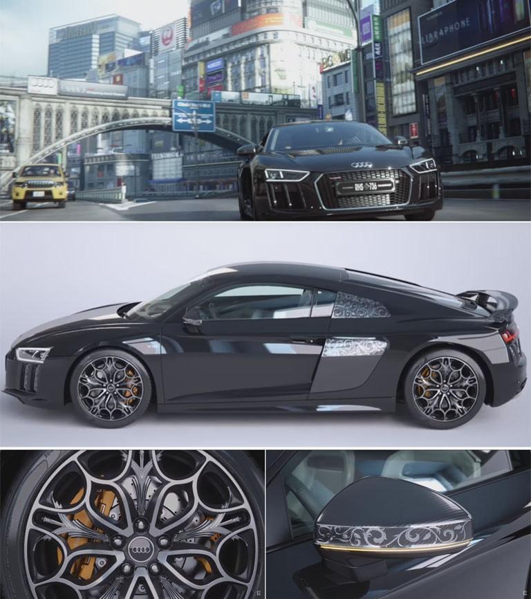 FF15の車とコラボの世界に1台存在するR8(アウディ)