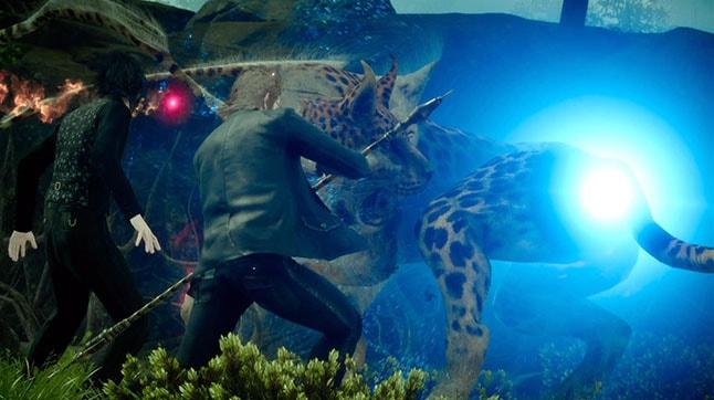FF15でクアールと戦うバトル風景