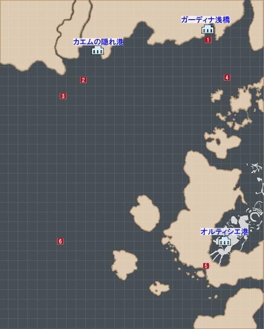 サブクエスト『シャッターチャンス』の発生場所マップ