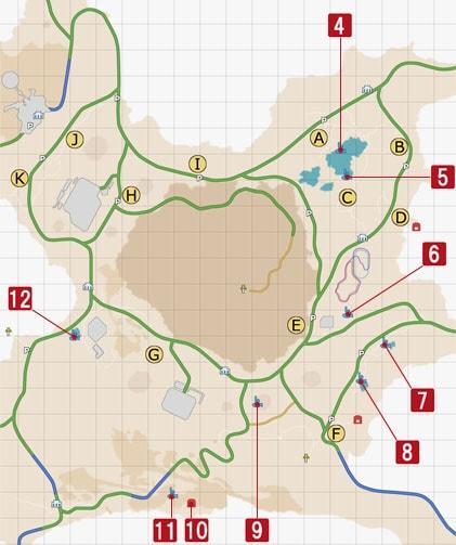 ダスカ地方の釣り場マップ