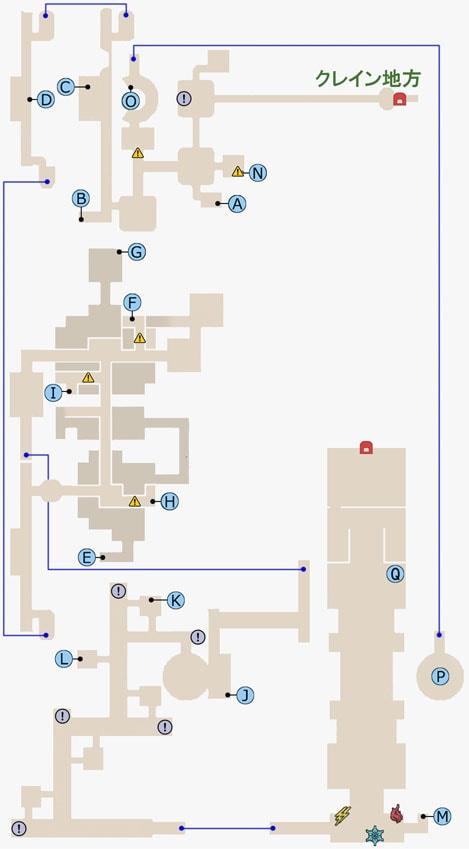 FF15のスチリフの杜のマップ