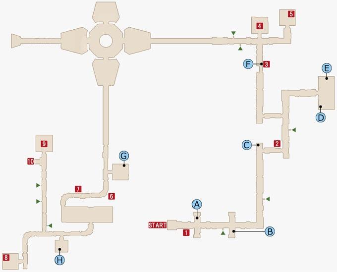 FF15のジグナタス要塞・エリア2のマップ