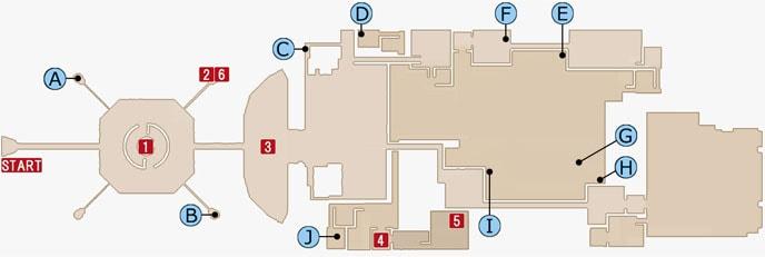 FF15のジグナタス要塞・エリア4のマップ
