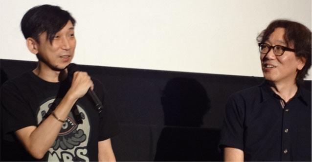 映画館での野末武志氏と長谷川隆氏の写真