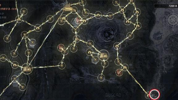 ガーディナ渡船場の送電マップ