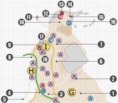 FF15・リード地方(北側)のマップ