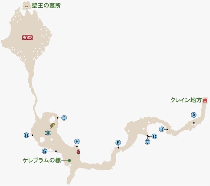 FF15のマルマレームの森のマップ