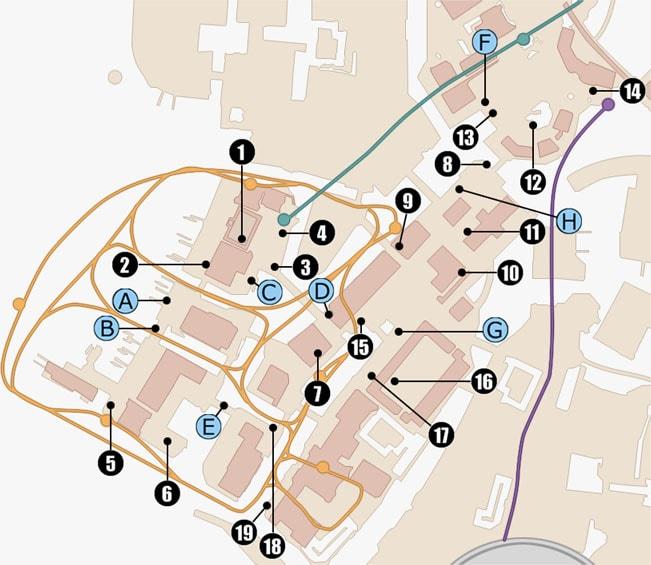 オルティシエで入手できるモグチョコメダルの入手場所のマップ