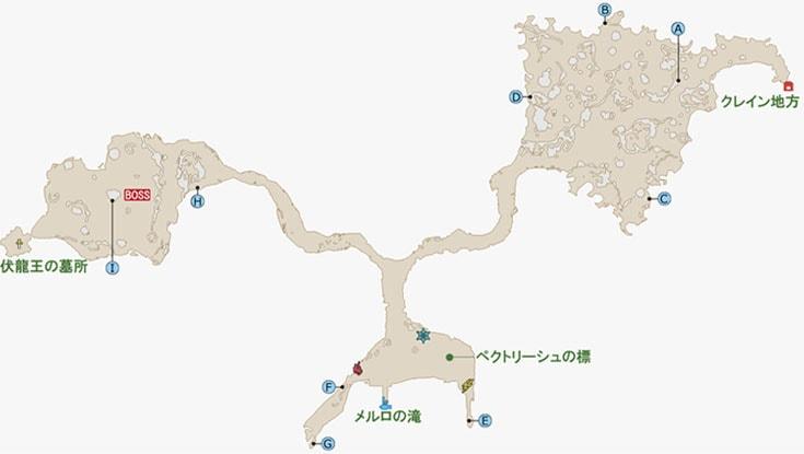 FF15のメルロの森のマップ