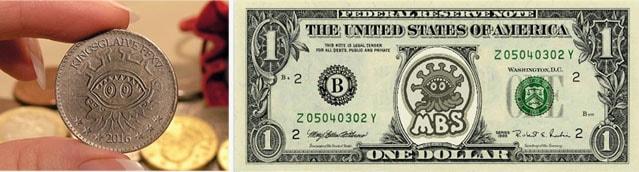 モルボル君のお金(コインと紙幣)