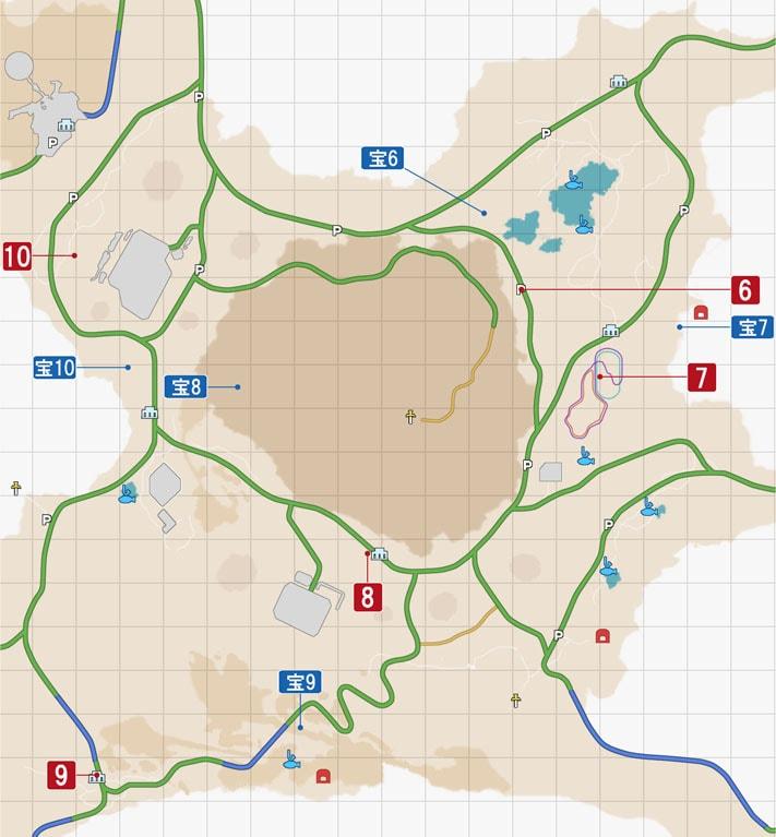 FF15のサブクエスト『謎めいた紙片』・ダスカ地方のマップ