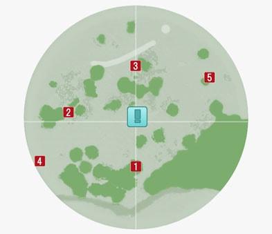 サブクエスト『入荷を阻む古い罠』のマップ