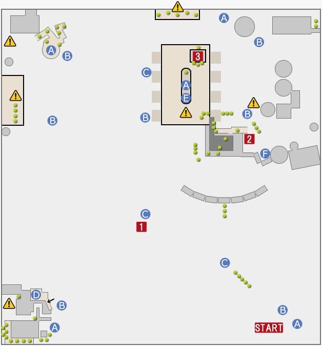 FF15プラチナデモの室内エリアのマップ