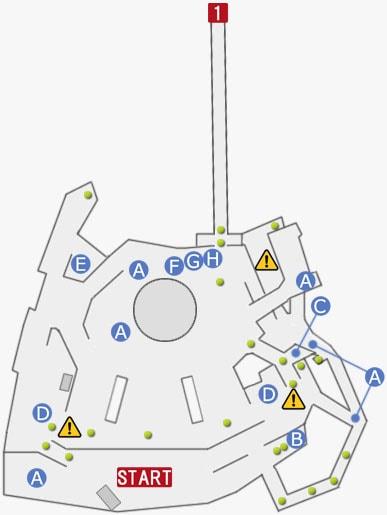 FF15プラチナデモの町エリアのマップ