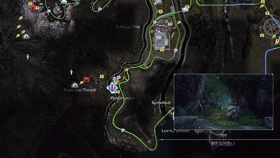 テラウォーズのクエストの発生場所のマップ画像