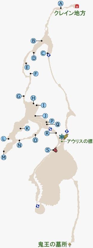 FF15のラバティオ火山のマップ