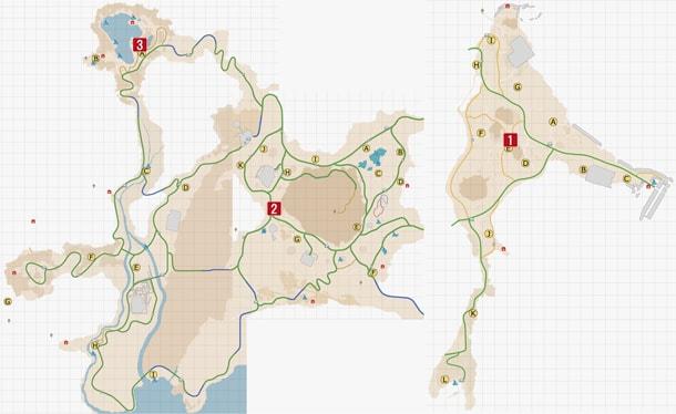 ラリーレイドの場所マップ