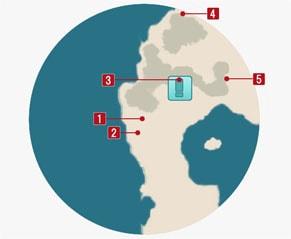 レッドフロッグの居場所マップ