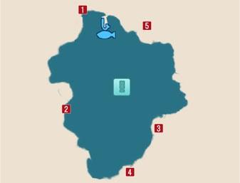 イエローフロッグの居場所マップ