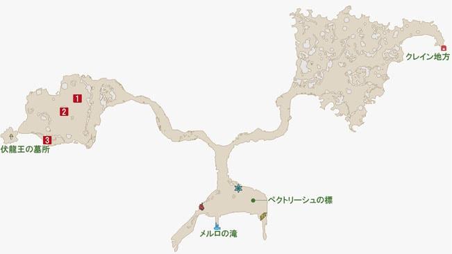 メルロホタルの居場所のマップ