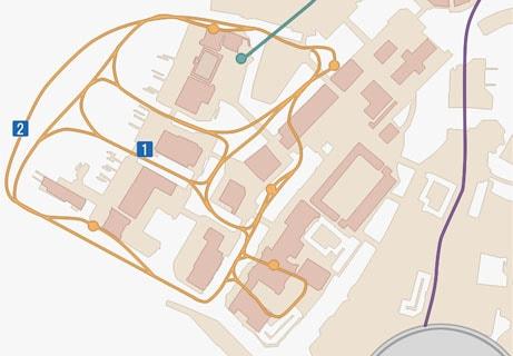 FF15のサブクエスト「シャッターチャンス・桟橋」のマップ