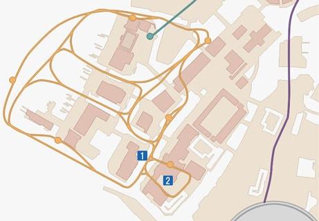 FF15のサブクエスト「シャッターチャンス・酒場」のマップ
