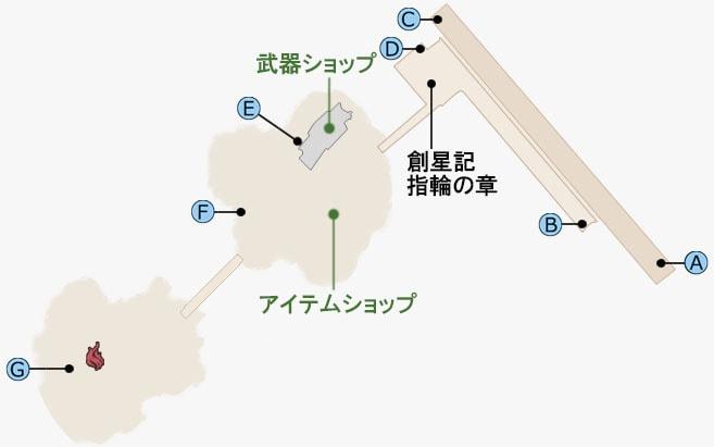 テネブラエ・ルーナの故郷のマップ