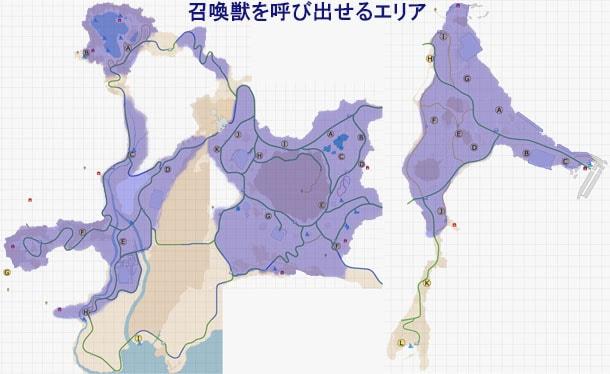 タイタンを召喚できるエリアのマップ
