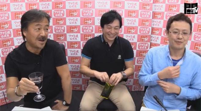 ファミ通公式生『闘TV』にFF15の田畑端ディレクター、FFの生みの親である坂口博信氏が出演したときの画像