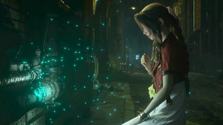 星の声を聞くエアリスの画像