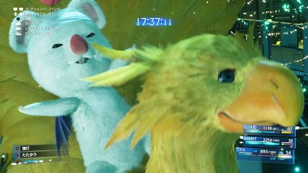 FF7リメイクの召喚獣のチョコボ&モーグリ