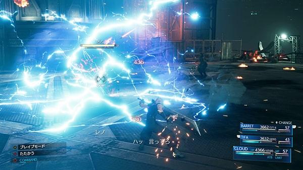 レノの電撃攻撃