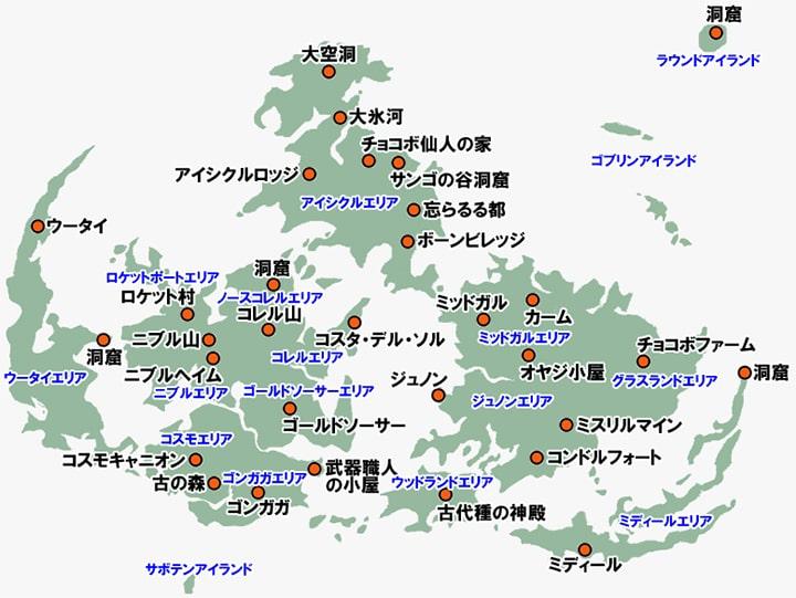 FF7のワールドマップ