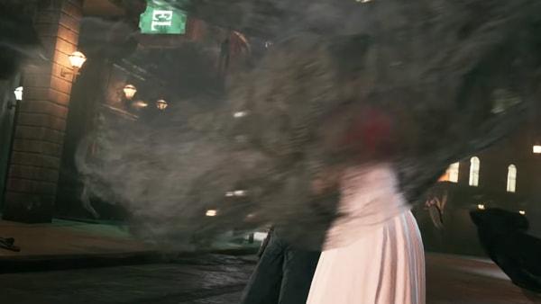 エアリスが黒いモヤのようなものに囲まれる映像シーン
