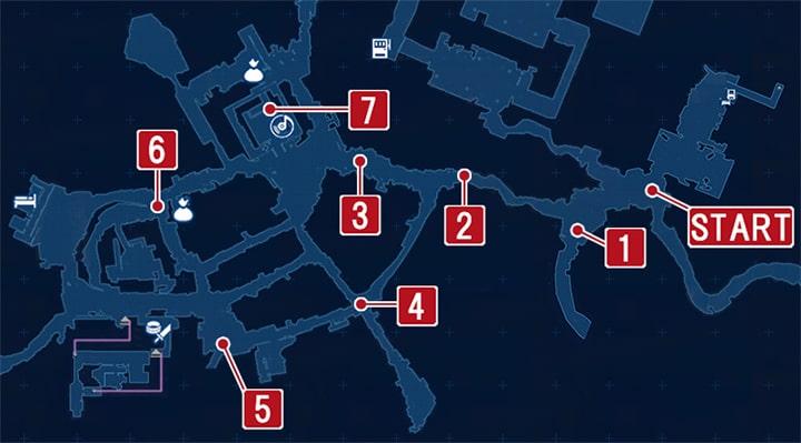 FF7リメイクのアバランチと合流の攻略マップ