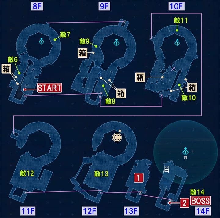 FF7リメイクの最上階へ ~ 決戦の攻略マップ