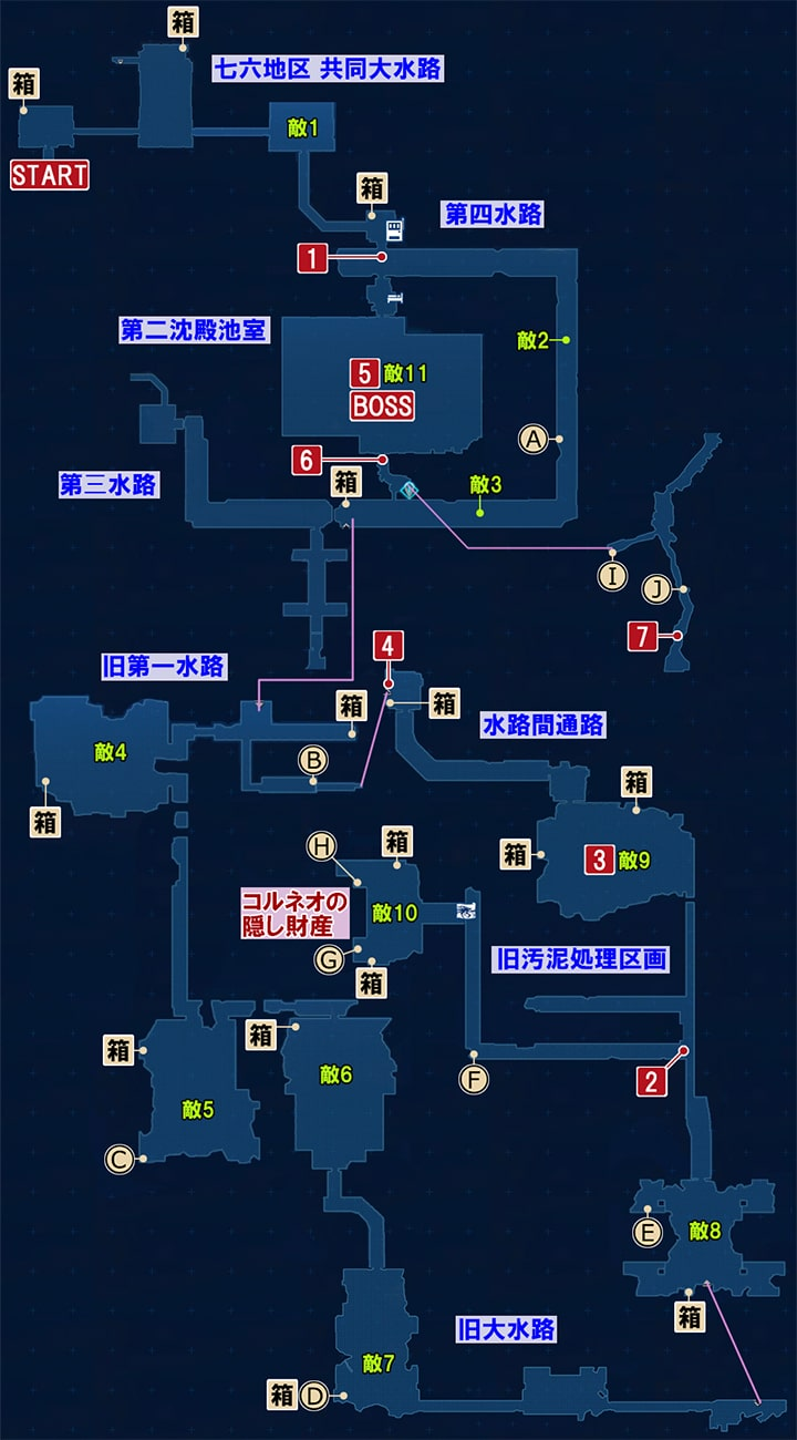 FF7リメイクの隠れ家へ ~ 壁を超えるの攻略マップ