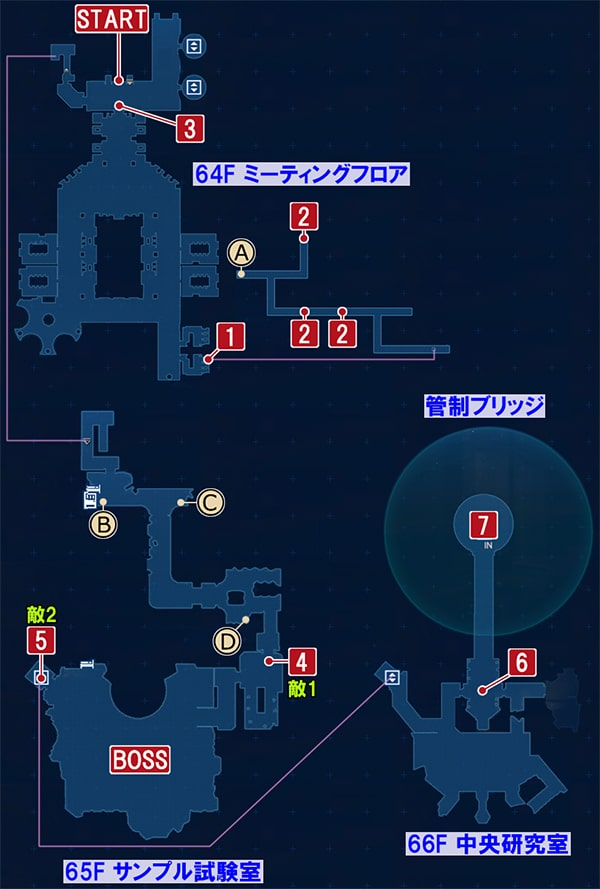 FF7リメイクの敵情視察 ~ エアリス救出作戦の攻略マップ