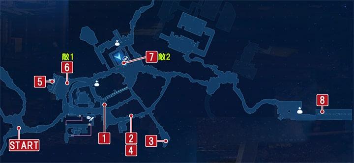 FF7リメイクのウェッジの家へ ~ 作戦決行の攻略マップ