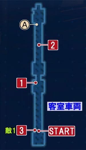FF7リメイクの客室車両の攻略マップ