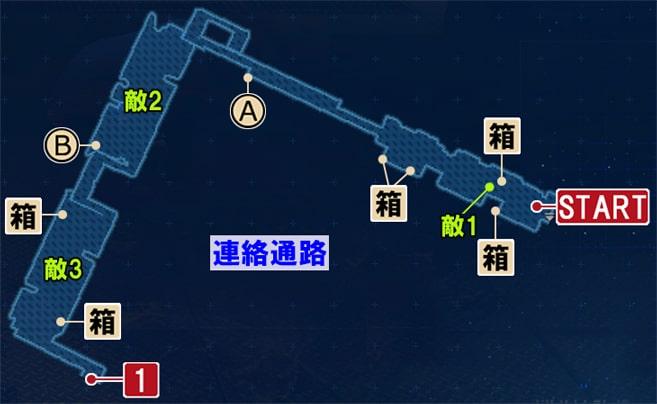 FF7リメイクのD区画の攻略マップ