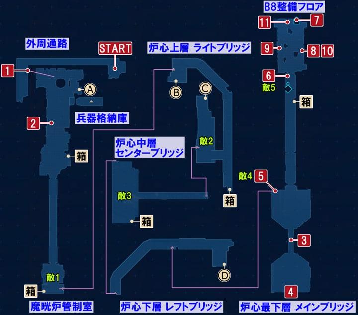 FF7リメイクの魔晄だまりを目指す ~ モニターの情報の攻略マップ