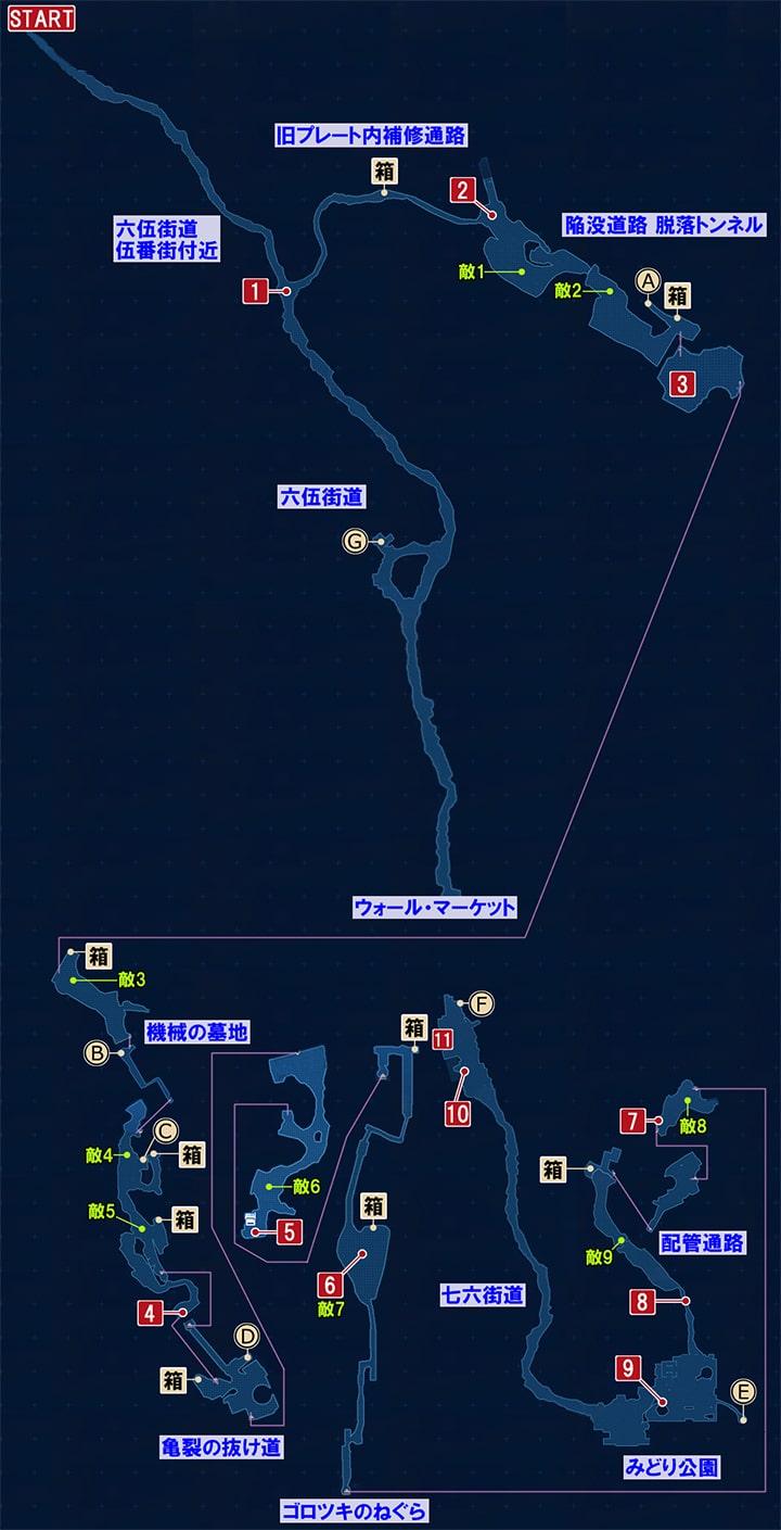 FF7リメイクの再開 ~ 屋根裏への攻略マップ