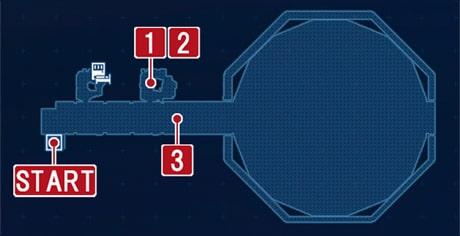 FF7リメイクの地下闘技場の戦いの攻略マップ