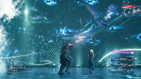 召喚獣『リヴァイアサン』のバトルシーン
