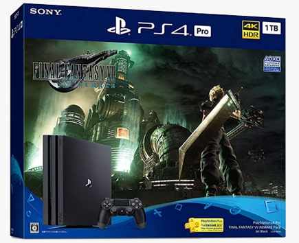 PS4本体同梱版『FINAL FANTASY VII REMAKE Pack』