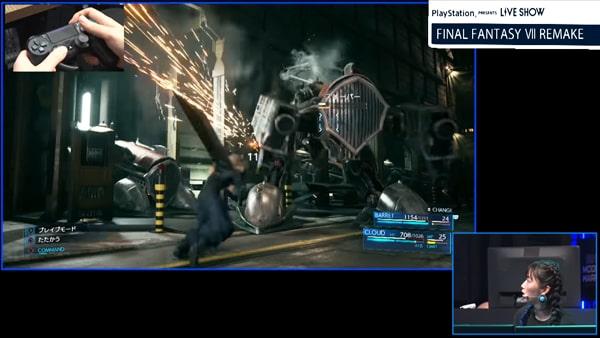 FF7リメイクのゲームプレイ画像